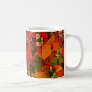 Caneca De Café Abstrato nenhuns do vermelho 12