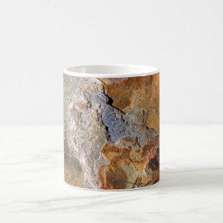 Caneca De Café Abstrato rico de superfície bonito da rocha das