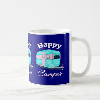 Caneca De Café Acampamento do reboque de campista feliz