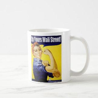 Caneca De Café Acima de seu Wall Street