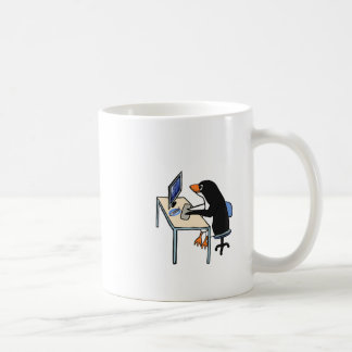 Caneca De Café administrador de sistema do tux do pinguim