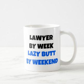 Caneca De Café Advogado pelo bumbum preguiçoso da semana em o fim