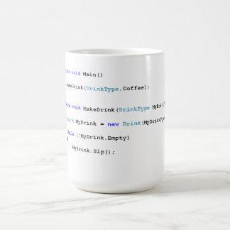 Caneca de café afiada dos programadores de C