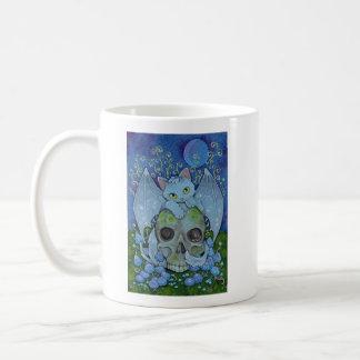 Caneca De Café Afirmação de Oracle dos gatos da fantasia - morte