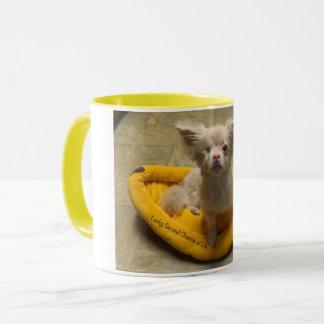 Caneca de café afortunada da cama da banana