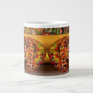 Caneca de café africana personalizada do design do