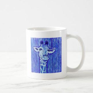 Caneca De Café Africano azul da arte do animal selvagem do