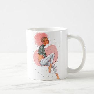 Caneca De Café Afro cor-de-rosa