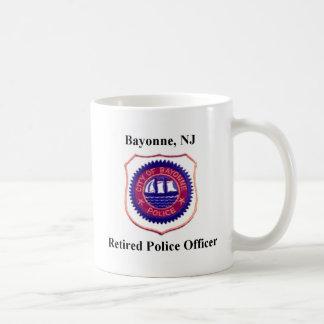Caneca De Café Agente da polícia aposentado de Bayonne