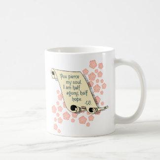 Caneca De Café Agonia da persuasão de Jane Austen meia, meia