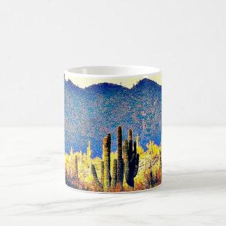 Caneca de café agradável dos Saguaros do lago
