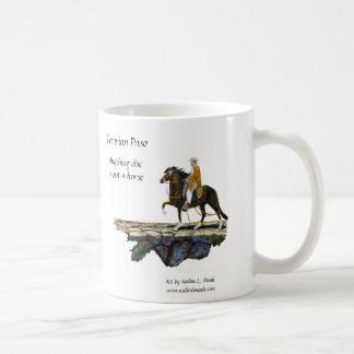 Caneca De Café Agrida, cavalo de Paso & cavaleiro peruanos na