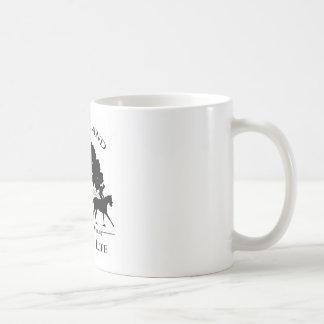 Caneca De Café Agrida com preto & logotipo branco de Merryland &