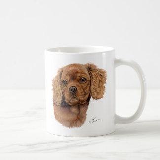 Caneca De Café Agrida, filhote de cachorro descuidado do spaniel