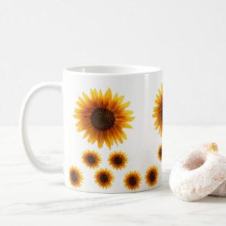 Caneca De Café agride girassóis