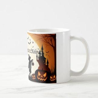 Caneca De Café Agride o Dia das Bruxas