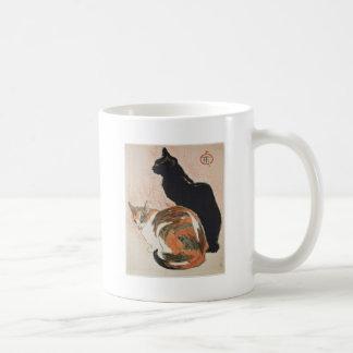 Caneca De Café Aguarela - 2 gatos - Théophile Alexandre Steinlen