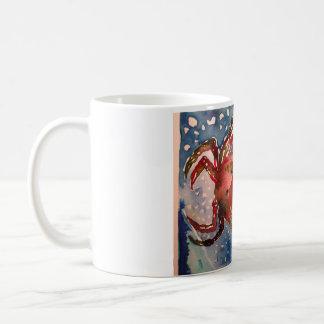 Caneca De Café Aguarela da imagem do caranguejo no copo