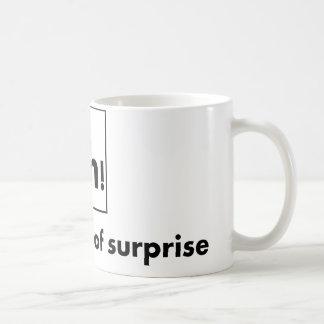Caneca De Café Ah - o elemento de surpresa