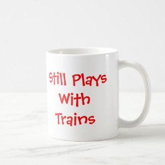 Caneca De Café Ainda jogos com trens