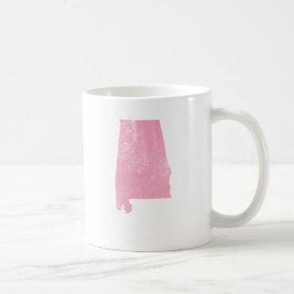 Caneca De Café Alabama - Grunge cor-de-rosa do vintage