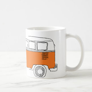 Caneca de café ALARANJADA da CAMIONETE/ônibus
