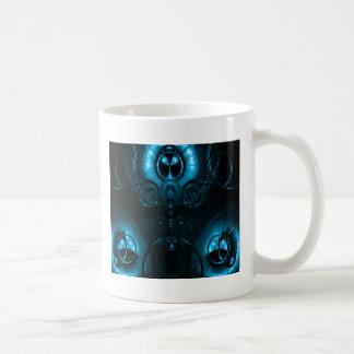 Caneca De Café Alargamento azul da lente