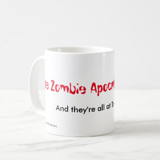 Caneca De Café Alarme & trunfo do apocalipse do zombi