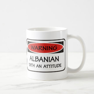 Caneca De Café Albanês da atitude