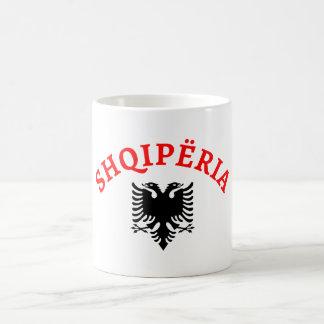 Caneca De Café Albânia e águia - shqiponja do dhe de Shqiperia