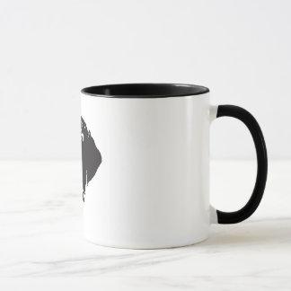 Caneca de café alemão do ponteiro de cabelos