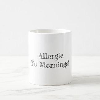 Caneca De Café Alérgico às manhãs