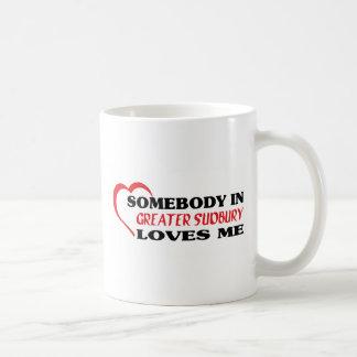 Caneca De Café Alguém em maior Sudbury ama-me