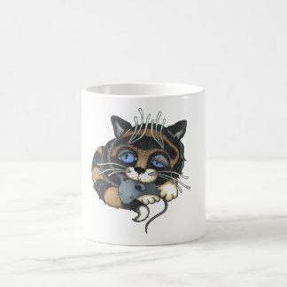 Caneca De Café Alice no branco do gato do país das maravilhas