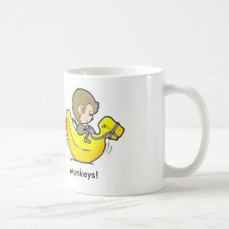 Caneca De Café Alimente seus macacos!