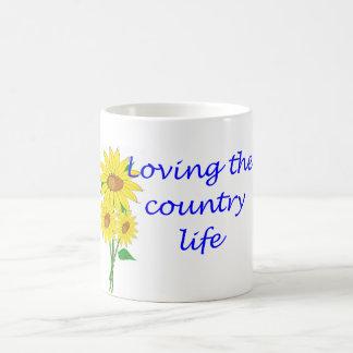Caneca De Café Amando a vida no campo