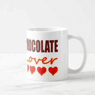 Caneca De Café Amante do chocolate com as caixas coração-dadas