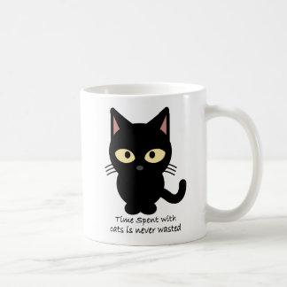 Caneca De Café Amantes do gato. O tempo passado com gatos é