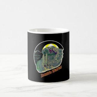 Caneca De Café Amarelo/roxo da morsa do zombi
