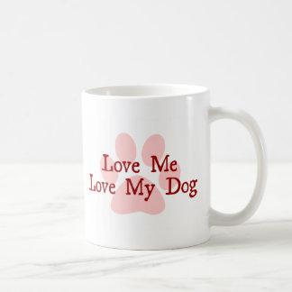 Caneca De Café Ame-me amor meu cão