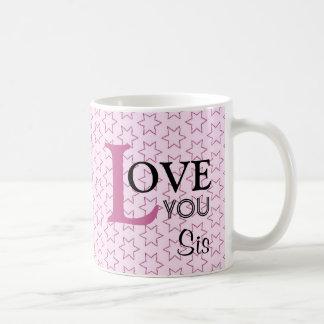 Caneca De Café Ame-o estrelas cor-de-rosa conhecidas feitas sob