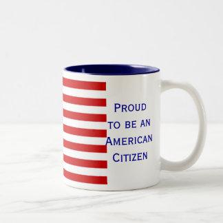 Caneca de café americana do tom da bandeira dois