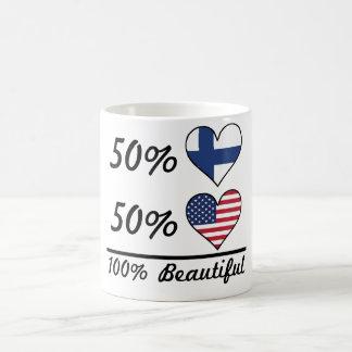 Caneca De Café Americano finlandês de 50% 50% 100% bonito