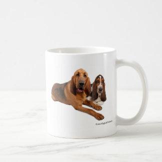 Caneca De Café Amigos do Basset e do Bloodhound
