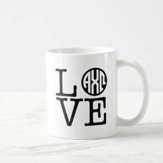 Caneca De Café Amor alfa de Omega | do qui