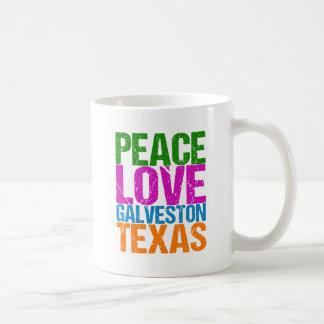 Caneca De Café Amor bonito Galveston Texas da paz