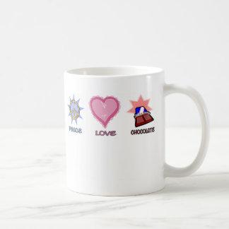 Caneca De Café Amor & chocolate da paz