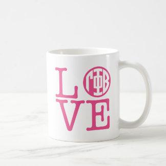 Caneca De Café Amor da phi da gama beta
