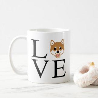 Caneca De Café Amor de Shiba Inu