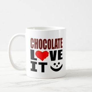 Caneca De Café Amor do chocolate ele